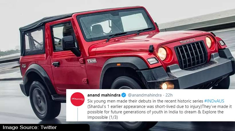 anand-mahindra-to-gift-thar-suvs-to-6-indian-cricketers