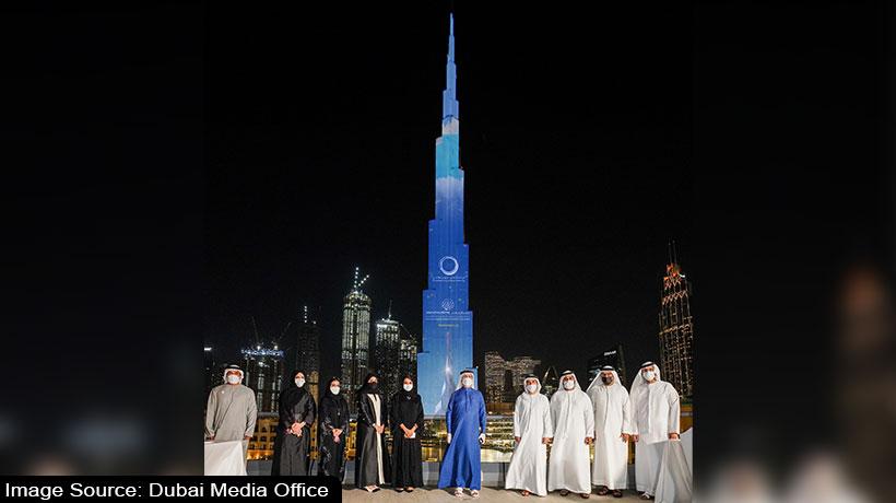 burj-khalifa-lights-up-for-dewa's-innovation-centre