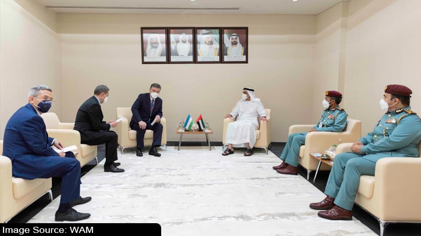 uae-deputy-pm-meets-uzbekistan-minister-on-the-sidelines-of-idex-2021