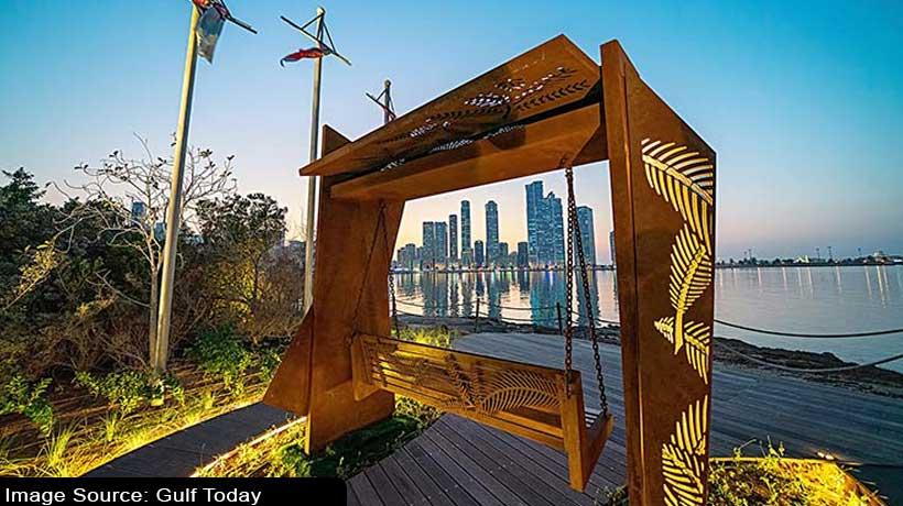 swing-installed-at-al-noor-island-to-bask-in-the-vistas-of-sharjah-skyline