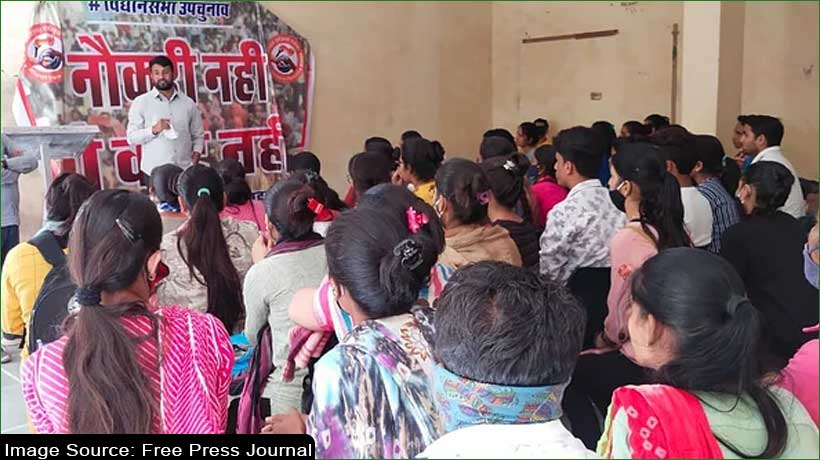 rajasthan-youth-launch-'no-job-no-vote'-campaign-against-government