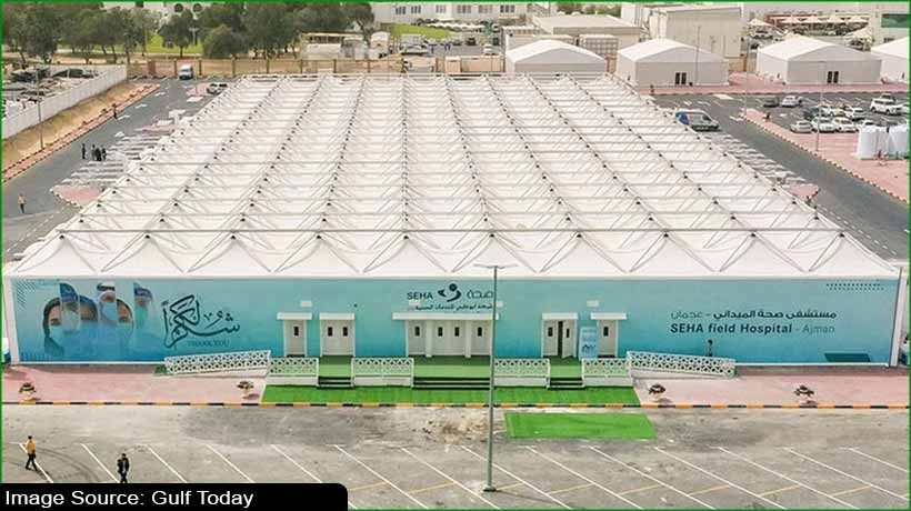 covid-19:-ajman-opens-field-hospital-with-204-beds-for-treating-patients
