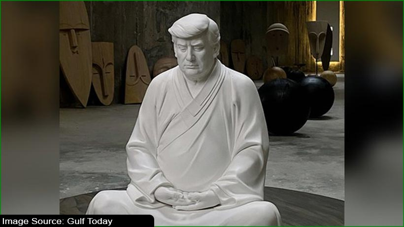 chinese-artist-takes-a-dig-at-trump-with-buddha-statues