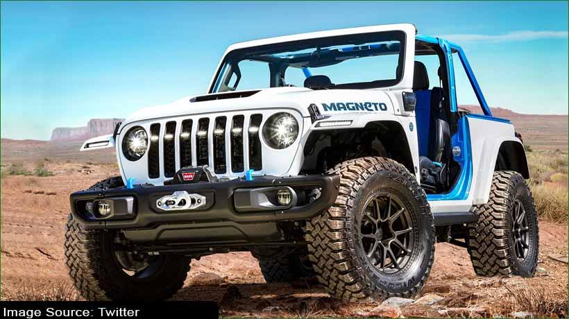 Jeep unveils Wrangler Magneto EV concept 'with a stick'