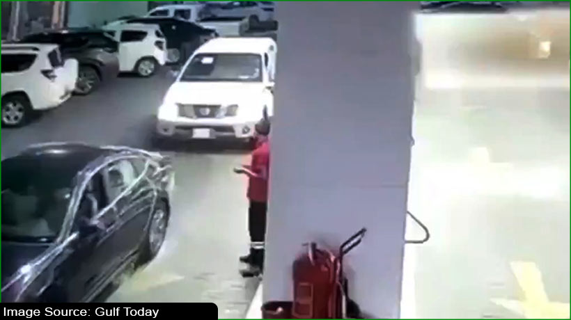 fuel-station-workers-flee-for-safety-as-car-rams-into-dispenser