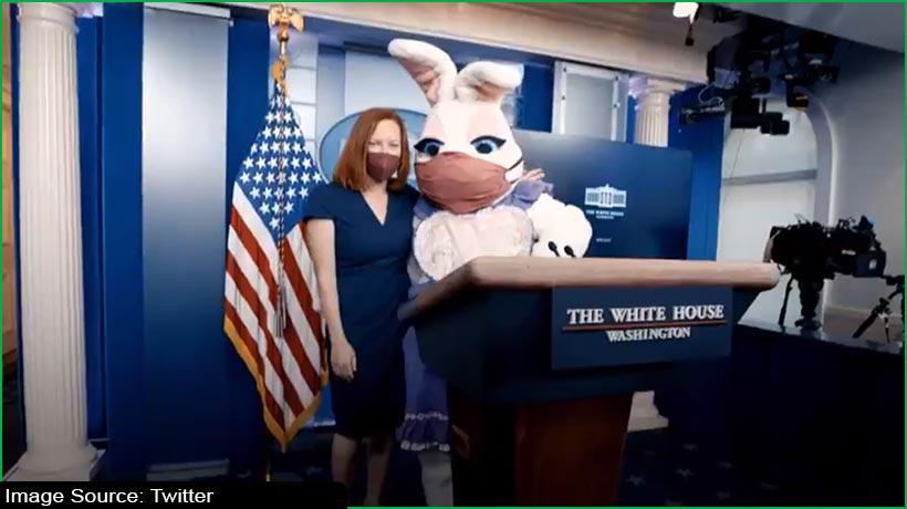 masked-bunnies-descend-on-white-house-to-join-biden's-easter-address