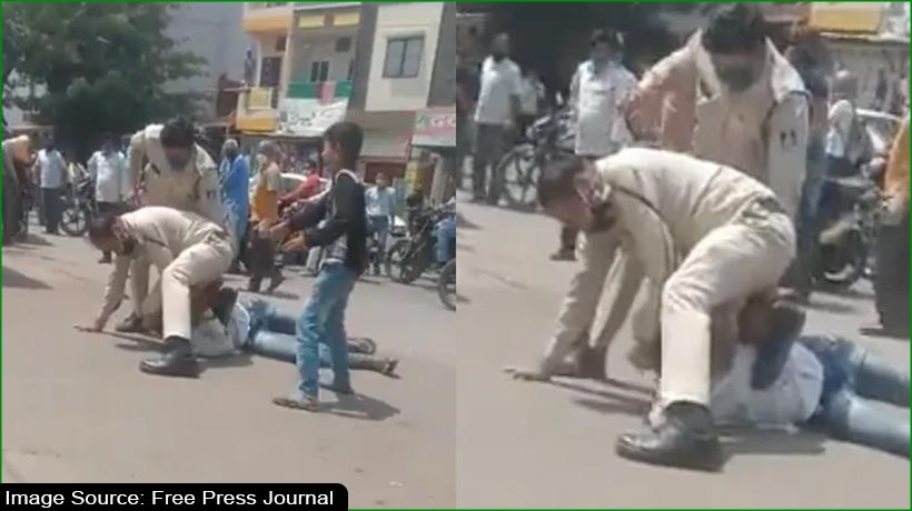 Cops beat rickshaw-puller in front of child, suspended