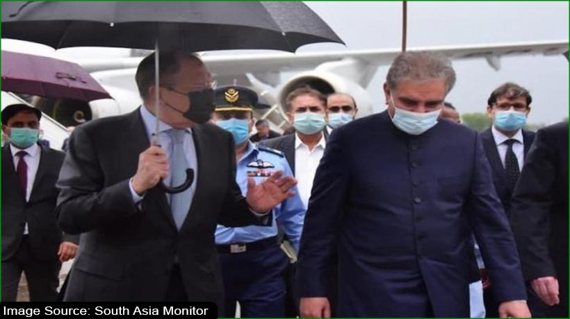 Russian foreign minister reaches Pakistan after India visit