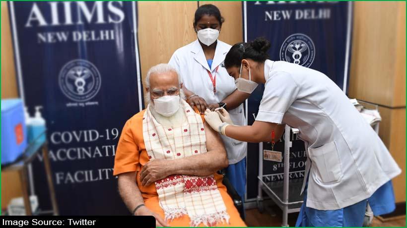 India PM Narendra Modi receives second dose of COVID-19 vaccine