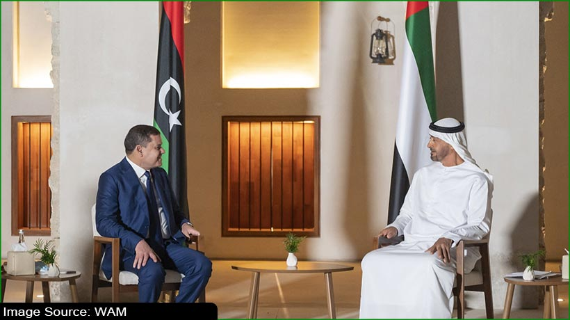 Abu Dhabi Crown Prince receives Libya's Prime Minister