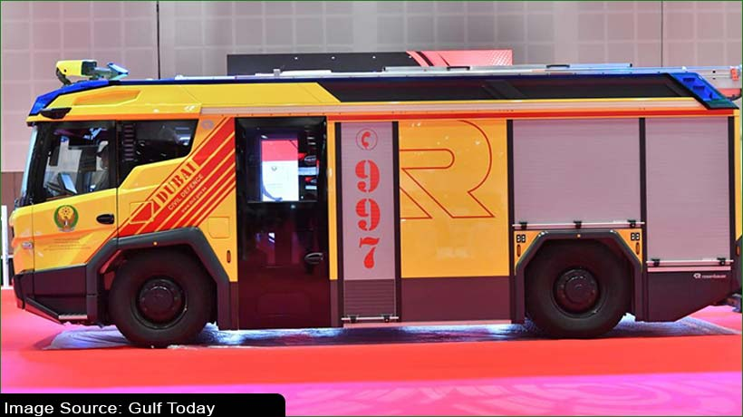 Dubai launches world's 2nd electric firefighting vehicle