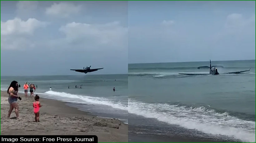 world-war-ii-era-aircraft-lands-near-florida-beach