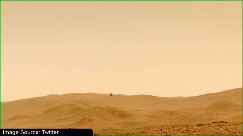 नासा के इंजेन्यूटी हेलीकॉप्टर ने मंगल पर पूरी की ट्रिप