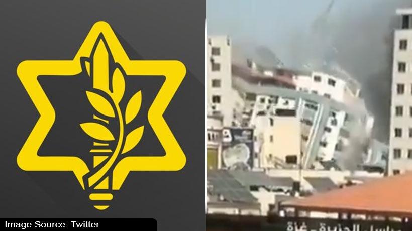 इमारत ध्वस्त करने पर बोली इजराइल सेना, हमने दिया था 'बचने का वक्त'