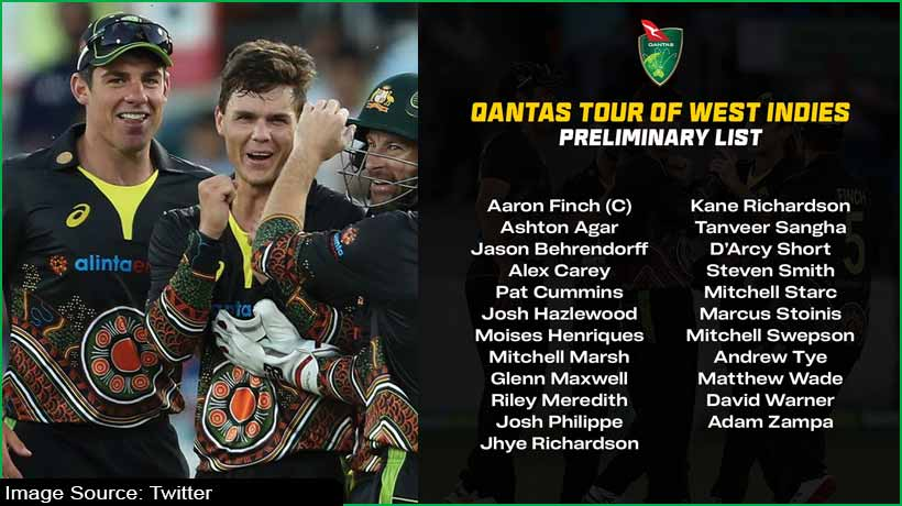 australia-announce-preliminary-squad-for-west-indies-tour