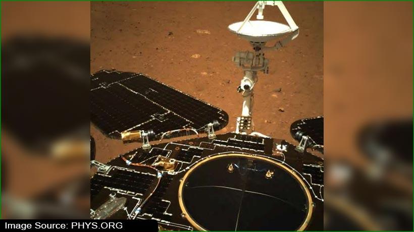 मंगल ग्रह से जूरोंग रोवर ने भेजी सेल्फी