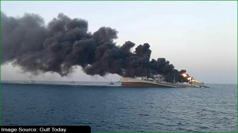 iran-navy's-largest-ship-sinks-in-gulf-of-oman