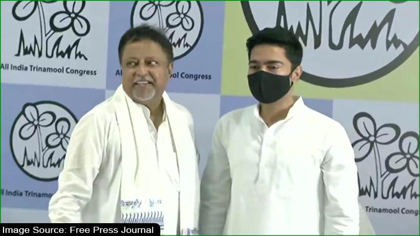BJP national vice president Mukul Roy, son Subhranshu join TMC