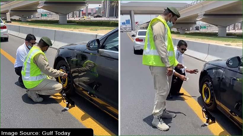 dubai-police-officer-helps-fix-resident's-car-before-friday-prayers