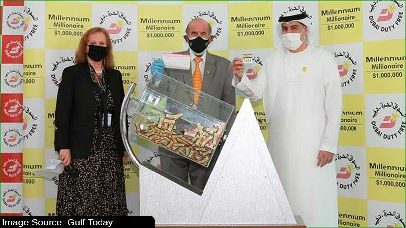 Indian businessman wins USD1 million in Dubai Duty Free raffle draw