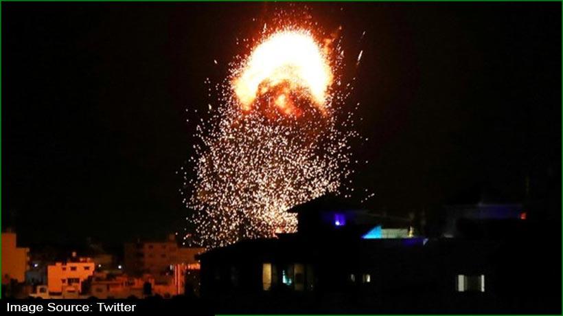 इजराइल ने गाजा में हमास के ठिकानों पर फिर की एयर स्ट्राइक