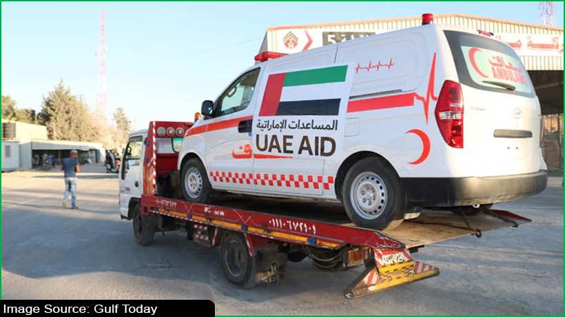 यूएई ने गाजा में फिलिस्तीनियों के समर्थन में 20 एम्बुलेंस भेजीं