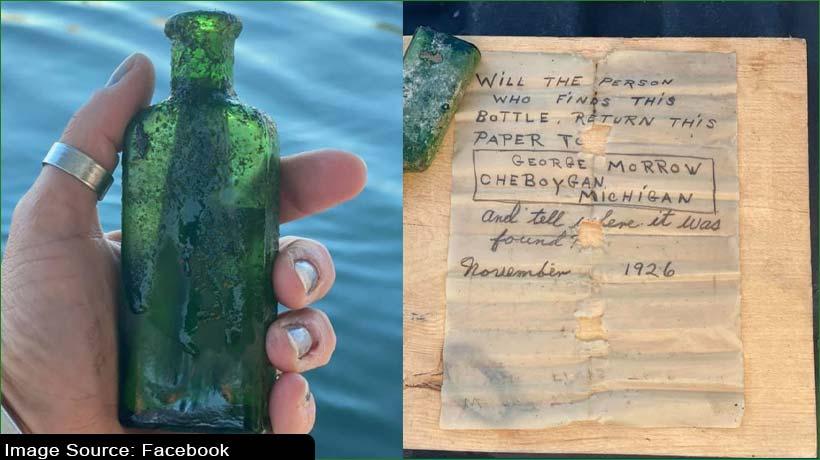 स्कूबा डायवर को मिला 95 साल पुराना बोतल बंद संदेश