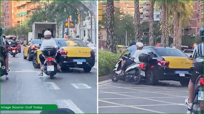 taxi-driver-knocks-down-motorcycle-rider-intentionally