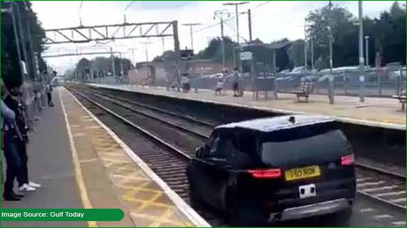 thief-drives-suv-on-train-track-injures-security-personnel
