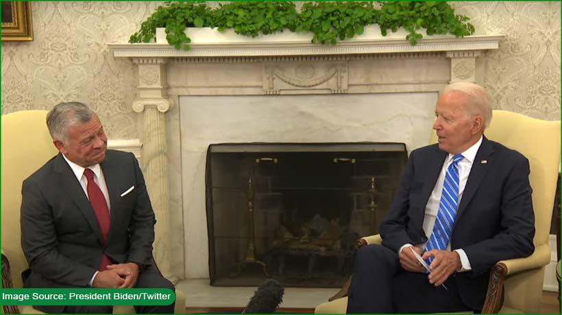 Jordan's King Abdullah II vists US President Biden in Washington