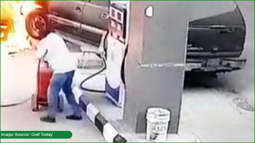 car-crashes-into-fuel-station-in-saudi-arabia