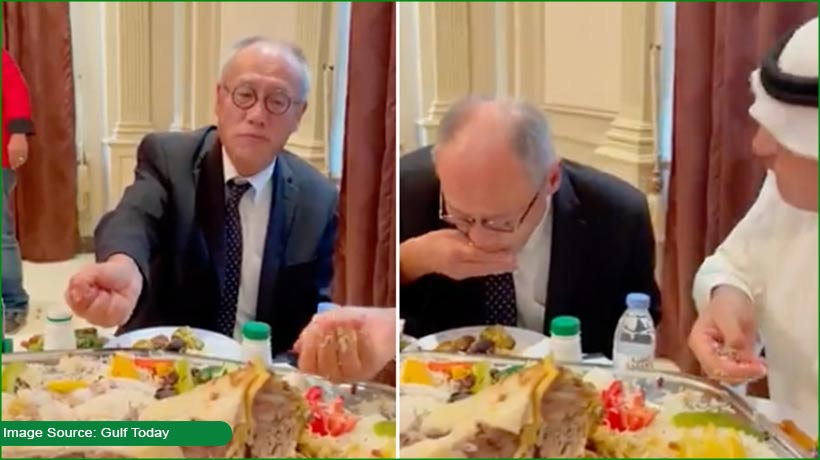 japanese-envoy-praised-for-eating-saudi-dish-the-traditional-way