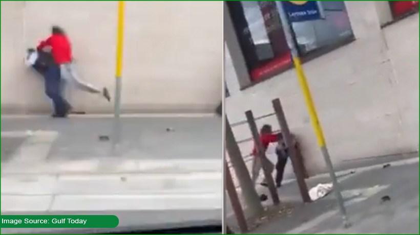 Australian man brutally beats up policewoman
